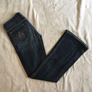 7 For All Mankind Dark Wash A Pocket